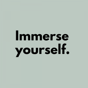 Tip 5: Immerse yourself