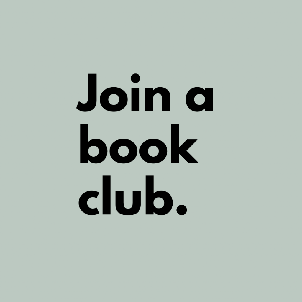 Tip 10: Join a book club