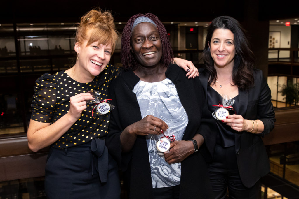 Equality Fund co-founders Jess Tomlin and Jessica Houssian with Theo Sowa, CEO of the African Women's Development Fund (AWDF)