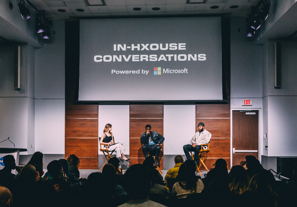 HXOUSE Co-Founders La Mar Taylor Ahmed Ismail Sitting on Microsoft Panel