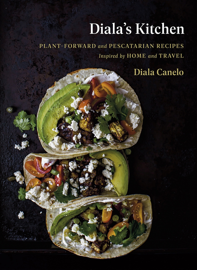 Cookbook cover with avocado, tortilla, tomatoes