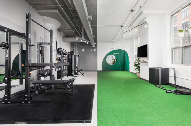 Silofit gym with workout equipment