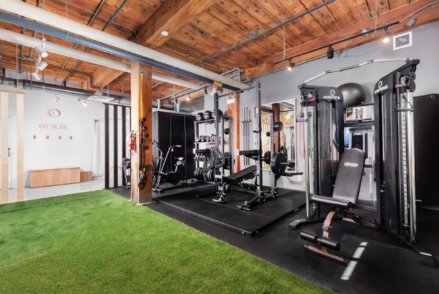 Silofit gym with fitness equipment