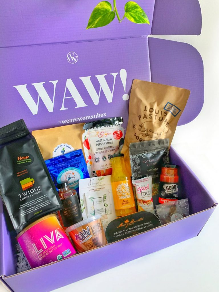 We Are Womxn box filled with items from 15 women food entrepreneurs