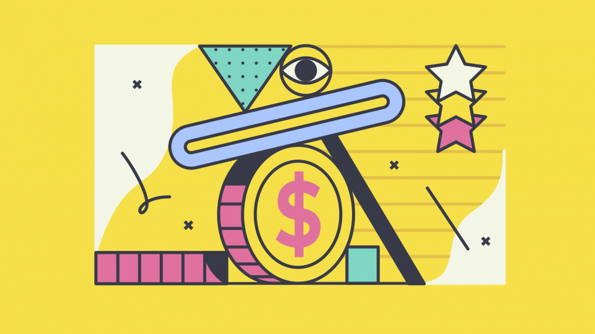 GraphicGraphic of money and stars to represent the DMZ surpassing $1 billion in funding for startups and alumni.