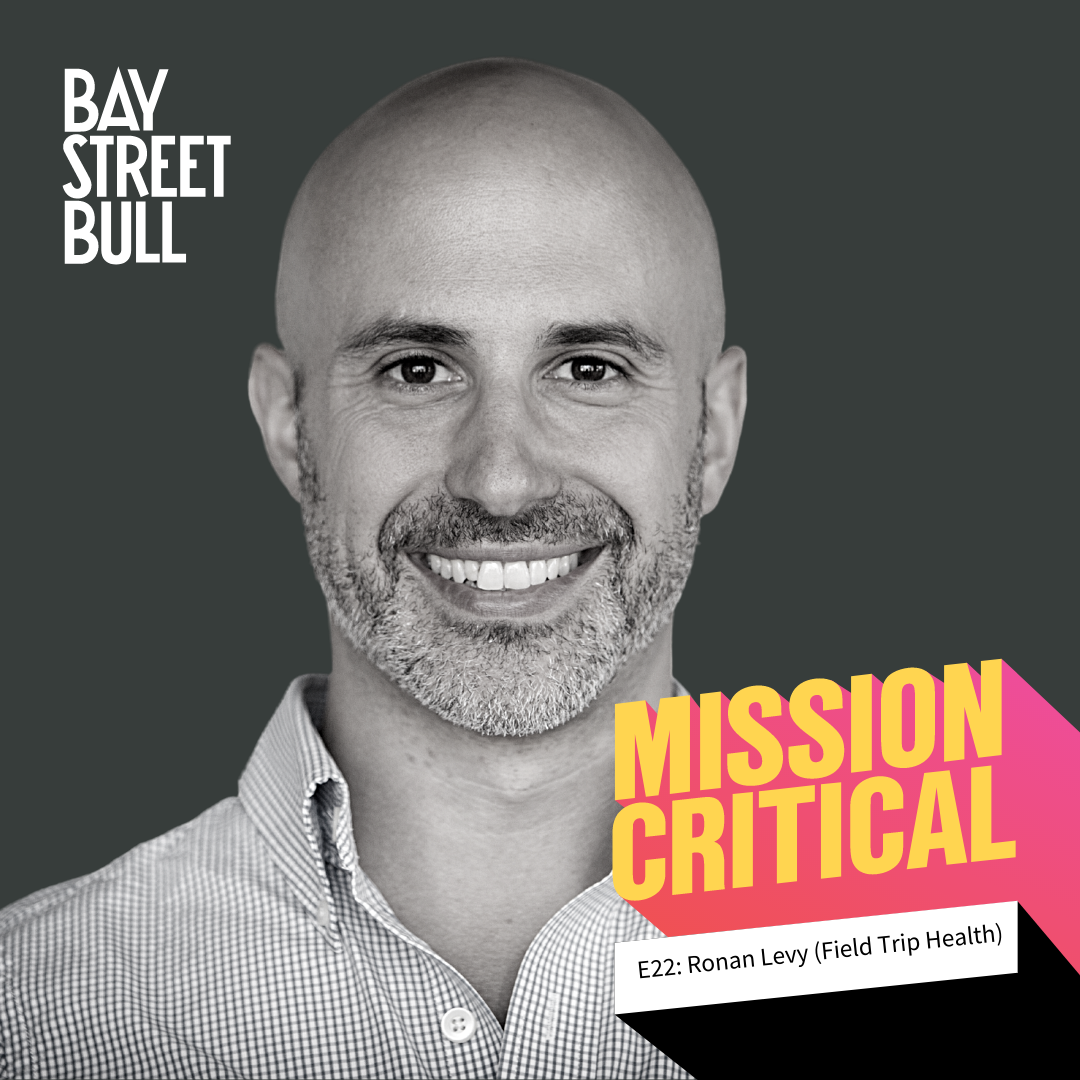 Cover photo of Ronan Levy for the Mission Critical podcast