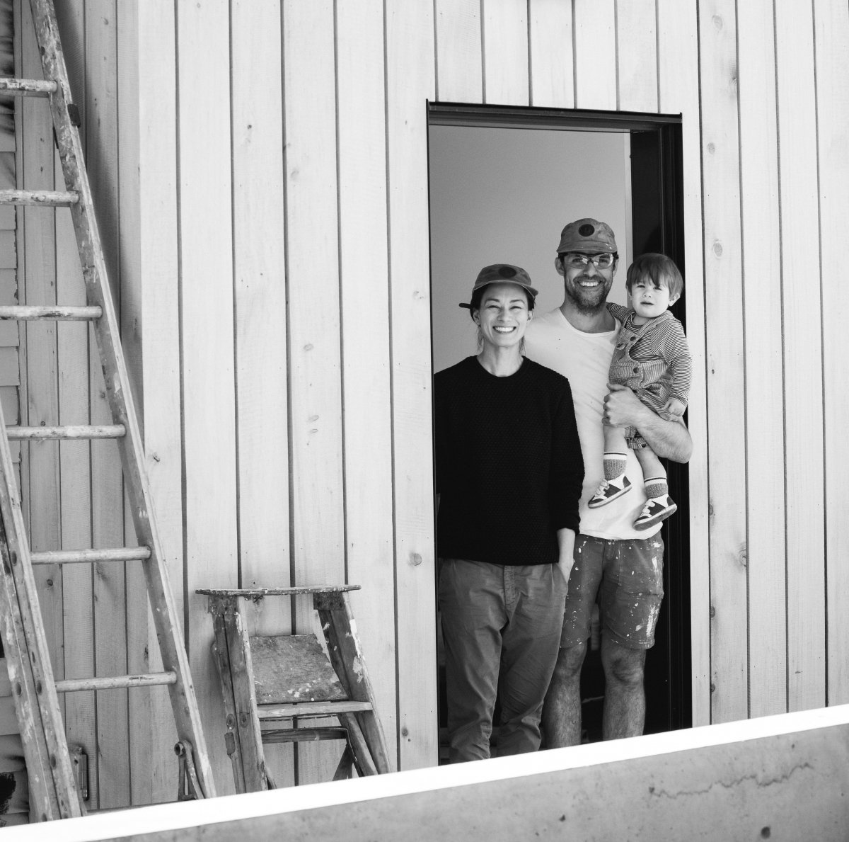 A picture of Rene Gauthier and his family to represent business lessons and fatherhood